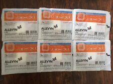 "Smith & Nephew 66801067 Allevyn Life Border Dressings 4"" x 4"". Lot Of 6"