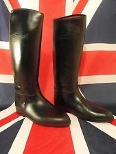 Mens Stylo Rubber Black Lined UK 11 EU 46 Riding Boots Gay Int?