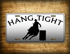 Cowboys License Plate Barrel Racing Auto Tag Cowgirl and Horse Racer Rodeo Sign!