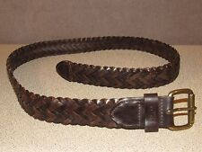 LEVI'S Brown Leather Braided Khaki's Chino's Jeans Belt Size 40