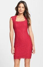 ADRIANNA PAPELL RED LACE CAP SLEEVE SHEATH DRESS sz 8