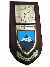 1st Uk Armoured Division HQ Signal Personalised Military Clock Plaque UK Made