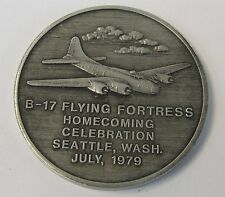 1979 BMA BOEING B-17 HOMECOMING large medal medallion coin MINT