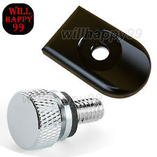 New Rear Seat Bolt Tab Screw Mount Knob Cover For Harley Davidson Dyna Sportster