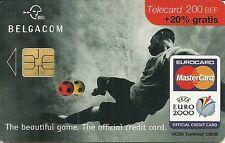 RARE / CARTE TELEPHONIQUE - FOOTBALL EURO 2000 MASTERCARD / PHONECARD BELGIQUE