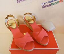 COACH HENLEY WEDGE  CYCLAMEN / GINGER  A1118 Size 9 M BRAND NEW!