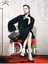 PUBLICITE ADVERTISING  2013   DIOR  haute couture KATE MOSS