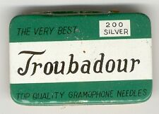 gramophone needle tin troubadour naalden doosje 200 needles