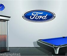 Ford Logo 4Ft Long Removable Wall Graphic Sticker Vinyl Decal Man Cave Home
