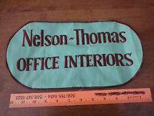 VINTAGE NELSON THOMAS OFFICE INTERIORS OFFICE DESK SUPPLIES   1960'S  XL PATCH