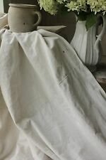 Linen sheet vintage French 86X76 2 different weights upholstery fabric LB