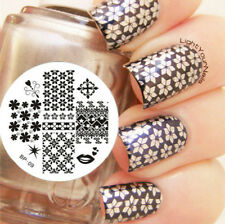 Mix Patterns Ongle Nail Art Stamp Stamping Template Image plaque BORN PRETTY 09