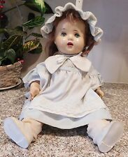 "Old Unknown 20"" Composition Chubby Baby Doll   Rough Condition"