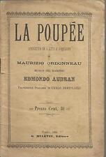 EDMONDO AUDRAN_LA POUPEE / OPERETTA  4 ATTI E 5 QUADRI DI ORDONNEAU_MULETTI 1901