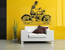 Wall Decor Art Vinyl Sticker Mural Decal Vintage Retro Motorcycle Bike SA588