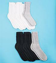 10-Pair Diabetic Sock Cushioned Sole Non Irritating Seams Wide Tops: WOMAN BASIC
