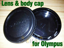 Camera Body Cover and Rear Lens Cap for Olympus OM 4/3 E-1 E-3 E-5 E-10 E-20 E-3