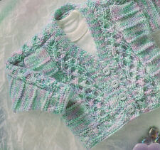 """Baby Cardigan with Celtic Entwined Cable ~  DK  -16"""" - 22"""" DK  Knitting Pattern"""