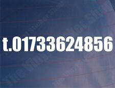 TELEPHONE NUMBER Business Car/Van/Truck/Window/Bumper Vinyl Sticker/Decal