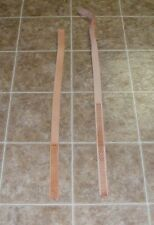 (QGE5386) Lot of 2 Heavy Weight Tan Leather Strips / Belt blanks w/embossing