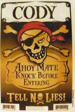 CODY Pirate Privacy Door Sign/Ahoy Mate/Knock Before Entering/Tell No Lies!