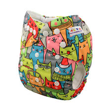 AlvaBaby Cat Reusable Washable Pocket Cloth Diaper Nappy +1Insert 6-33lbs