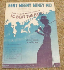 "Vintage 1935 Sheet Music Eeny Meeny Miney Mo RKO Musical ""To Beat The Band"""