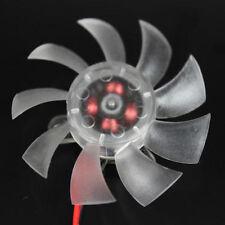 2 PIN 65mm 6.5cm 4 FORI chiaro Scheda grafica video VGA ventola di raffreddamento per PC Desktop