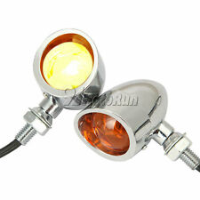 Bullet Heavy Duty Motorcycle Retro Turn Signals Indicators Blinkers Tail Lights