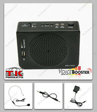 VoiceBooster Loud Portable Voice Amplifier 16watt (Aker) MR2800 Mp3 FM