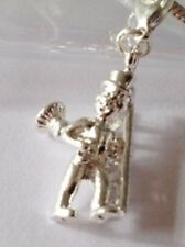 LOVELY SILVER CHIMNEY SWEEP WITH LADDER CLIP ON CHARM FOR BRACELETS-SILVER PLATE