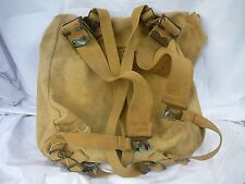 WW2 Australian Army Large Webbing back pack complete with all straps and named