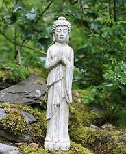 Standing Buddha Stone Drift Wood effect Garden Outdoor Indoor Statue Ornament