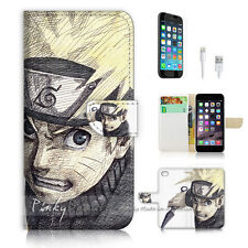 iPhone 6 / 6S (4.7') Flip Wallet Case Cover! P1716 Naruto