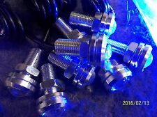LED BLUE X 10 SILVER  BASS/PLEASURE/PONTOON BOAT DECK LED LITES
