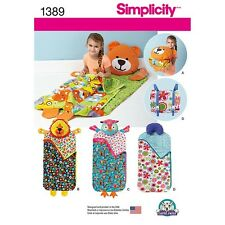 Sewing Pattern Kid's Nap Mat with Pillow Lion Owl Simplicity 1389 PreSchool