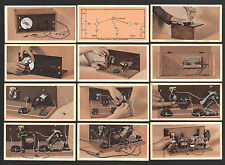 CIGARETTE CARDS. Phillips. HOW TO BUILD A TWO VALVE SET.(Wireless).(1929).(Set).