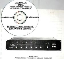 Valhalla 2701A DC Voltage Calibrator Operating & Service Manual