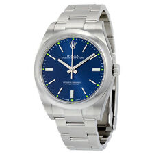 Rolex Oyster Perpetual Blue Dial Stainless Steel Automatic Mens Watch 114300BLSO
