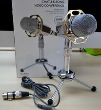 New Sliver Desktop Microphone MIC F PC Computer Laptop Mac karaoke Skype Msn