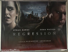 Cinema Poster: REGRESSION 2015 (Quad) Emma Watson Ethan Hawke David Thewlis