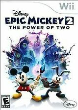 Disney Epic Mickey 2: The Power of Two (Nintendo Wii, 2012) - NO Manual **READ**