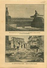 Lock in Vienna Danube Austria/Foro Romano Roman Forum Rome 1910 ILLUSTRATION