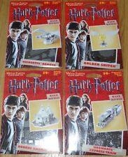 Set of 4 Harry Potter Metal Earth 3D Laser Cut Model Kit Dragon Train Hut Snitch