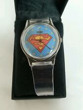 SUPERMAN: Clear Boys Rubber Watch, Collectible, DC COMICS, Gift Idea, Juniors