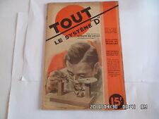 TOUT LE SYSTEME D N°8 JUILLET 1946 MICROSCOPE SANS LENTILLES    I75