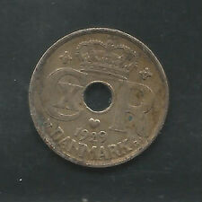 DENMARK, 1929, 10 ORE, COPPER NICKEL, KM#822.2,  EXTRA FINE