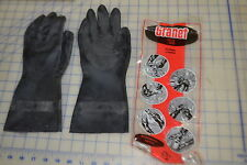1 pair great cleaning gloves flock lined size medium granet 7 - 7 1/2 syn latex