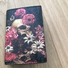 New!!! dior homme Leather Pocket Organizer Skull & Flowers Print