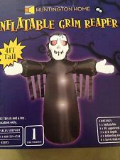 New Halloween 4' LED Airblown Inflatable Grim Reaper Yard Decoration
